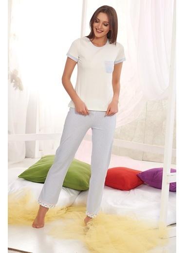 Sevim Pijama Takımı Mavi